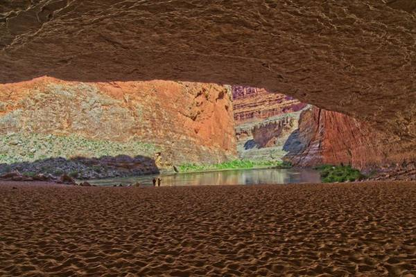Photograph - Red Rock Cave by Walt Sterneman
