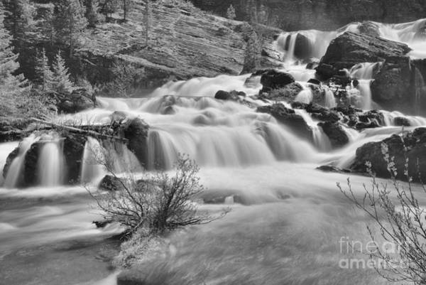 Photograph - Red Rock Falls Base Black And White by Adam Jewell