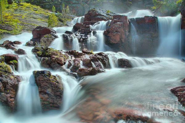 Wall Art - Photograph - Red Rock Falls Spring Closeup by Adam Jewell