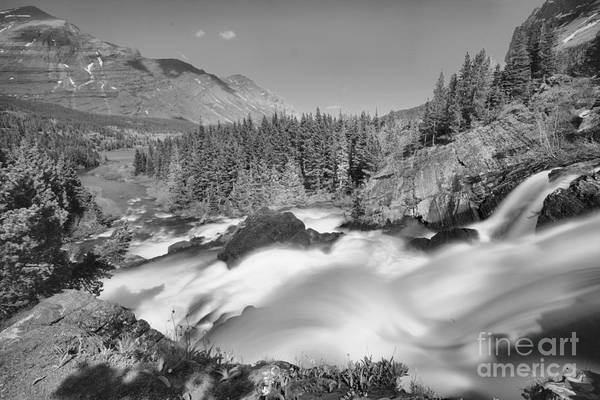Photograph - Red Rock Falls Spring Gusher Black And White by Adam Jewell