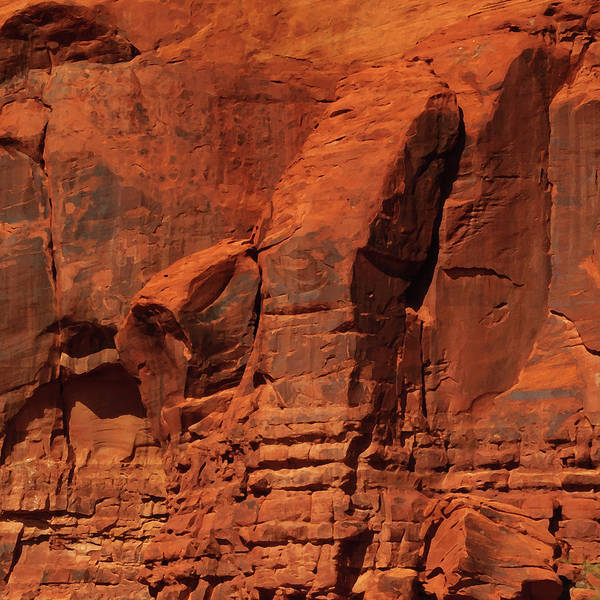 Photograph -  Red Rock Formations Abstract by Tikvah's Hope