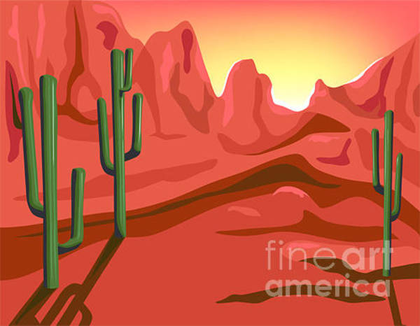 Wall Art - Digital Art - Red Rock Is Hand Drawn Original Artwork by Charmaine Paulson