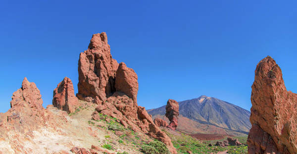 Photograph - Red Rocks In Front Of Mount Teide by Sun Travels