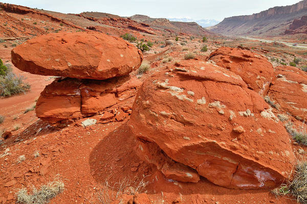 Photograph - Red Rocks Of Highway 191 North Of Moab Utah by Ray Mathis