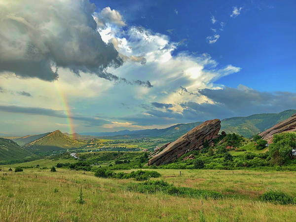 Wall Art - Photograph - Red Rocks Rainbow by Douglas Ransom