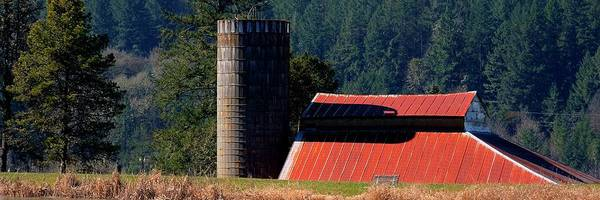 Photograph - Red Roof Barn And Silo by Jerry Sodorff