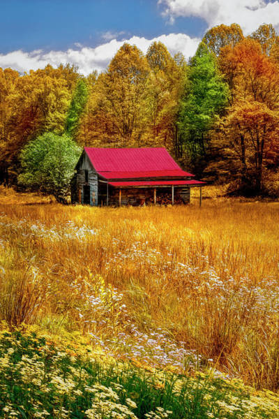 Photograph - Red Roof Country by Debra and Dave Vanderlaan