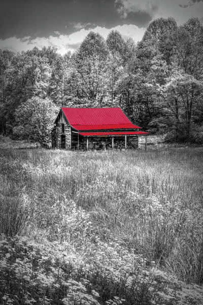 Photograph - Red Roof Country In Black And White by Debra and Dave Vanderlaan