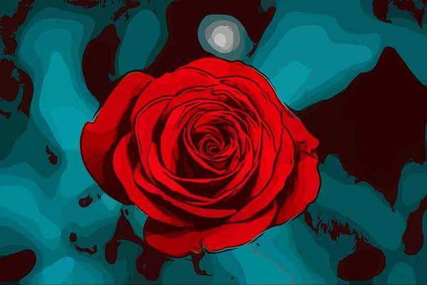 Wall Art - Painting - Red Roses by ArtMarketJapan