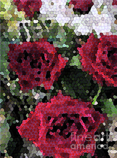 Photograph - Red Roses Mosaic 1001 by Corinne Carroll