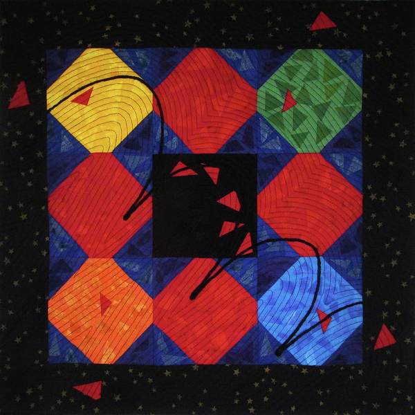 Tapestry - Textile - Red Rubber Ball by Pam Geisel