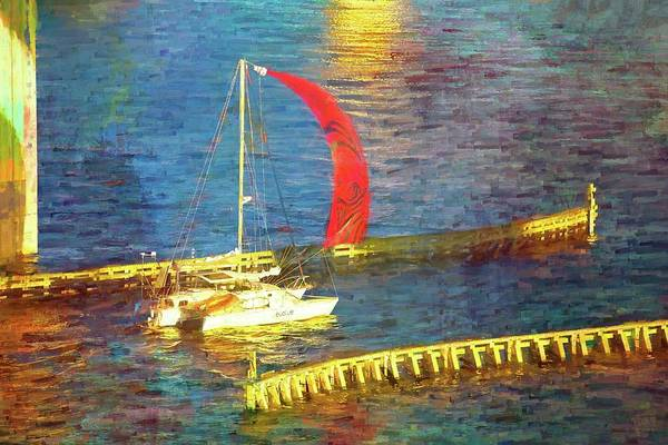 Photograph - Red Sail Flying by Alice Gipson