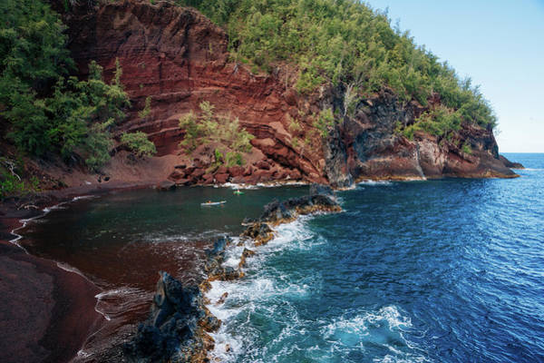 Maui Photograph - Red Sand Beach by M Swiet Productions