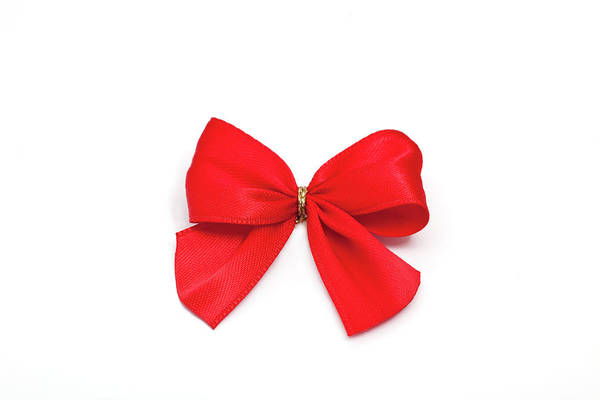 Knot Photograph - Red Satin Bow by Ursula Alter