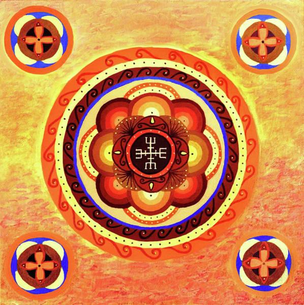 Painting - Red Sea Mandala by Astrid Haszprunarova