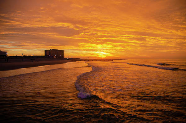 Photograph - Red Skies At Ocean City New Jersey by Bill Cannon