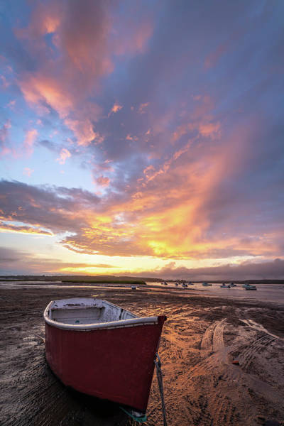 Photograph - Red Skiff by Christina DeAngelo