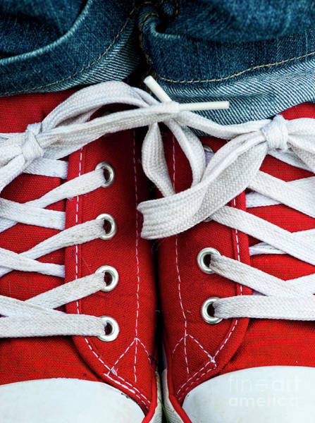 Photograph - Red Sneakers by Tim Gainey