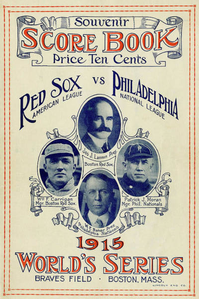 Wall Art - Photograph - Red Sox V Philadelphia Phillies World Series Game Book 1915 by Daniel Hagerman