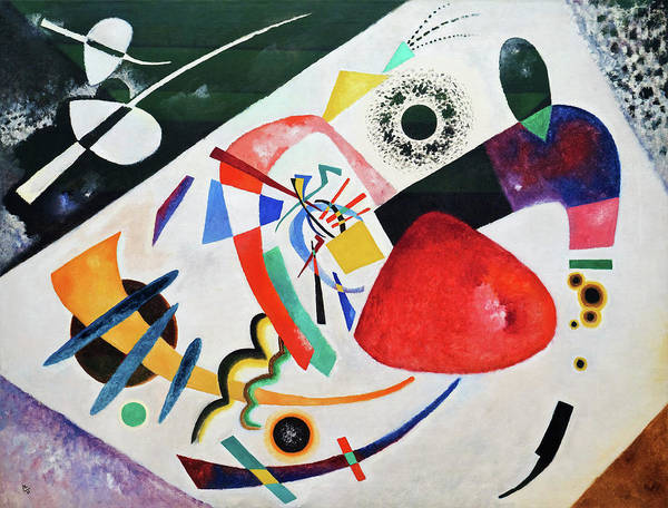 Wall Art - Painting - Red Spot II - Digital Remastered Edition by Wassily Kandinsky