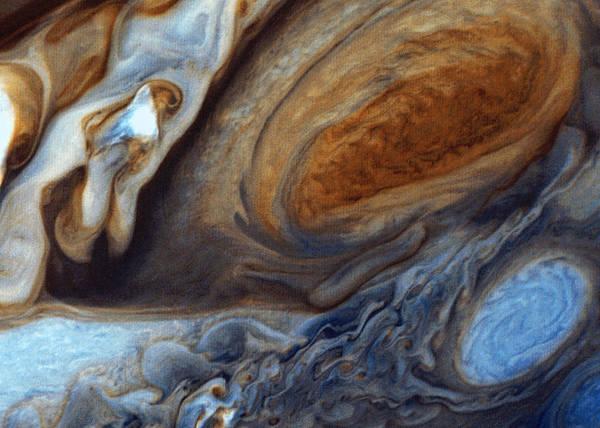 Wall Art - Digital Art - Red Spot On Jupiter by Filip Hellman