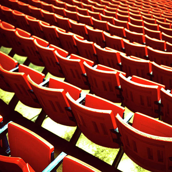 Rutherford Photograph - Red Stadium Seats by Eyetwist / Kevin Balluff