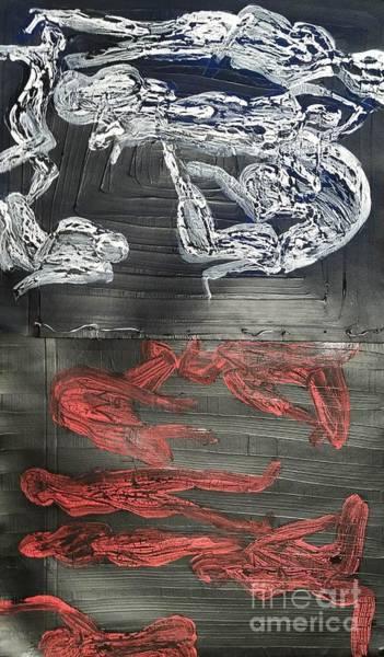Red Strangles White Cells Art Print
