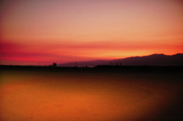 Wall Art - Photograph - Red Sunset At Santa Monica by Art Spectrum