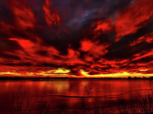 Photograph - Red Sunset by Shane Bechler
