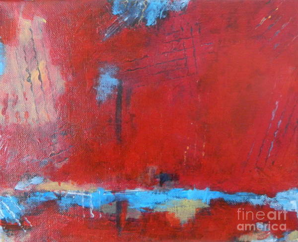 Wall Art - Painting - Red Sunshine by Kate Marion Lapierre