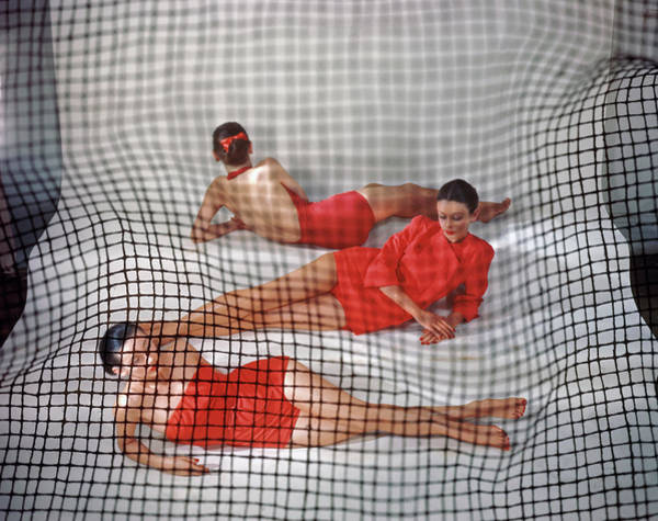 Wall Art - Photograph - Red Swimming Attire, Vogue by Erwin Blumenfeld