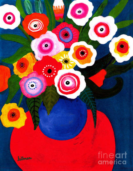 Wall Art - Painting - Red Table 2002 by A Hillman
