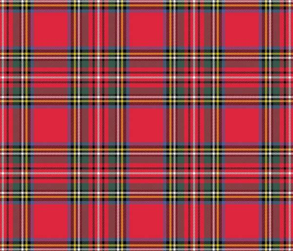 Digital Art - Red Tartan by Marianna Mills