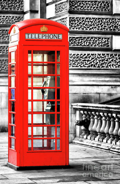 Wall Art - Photograph - Red Telephone Booth Fusion On Parliament Street In London by John Rizzuto