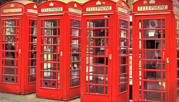 Photograph - Red Telephone Box  by JAMART Photography