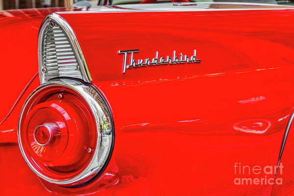Photograph - Red Thunderbird by Paul Quinn