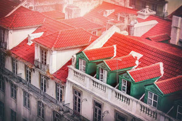 Wall Art - Photograph - Red Tiled Roofs Of Old Alfama Lisbon by Carol Japp