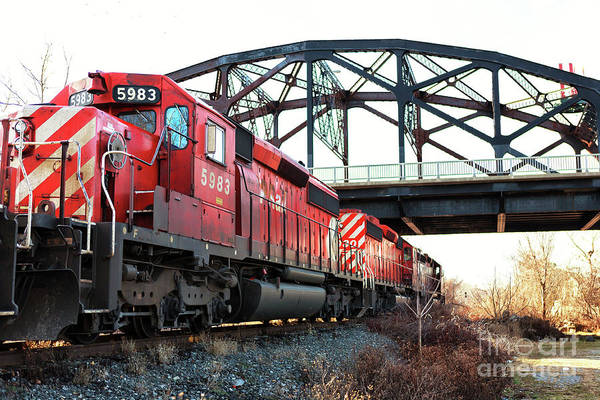 Photograph - Red Train In Bethlehem by John Rizzuto