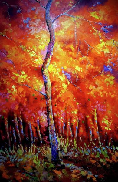 Wall Art - Digital Art - Red Tree In The Red Forest by Brahaman Dhumsi