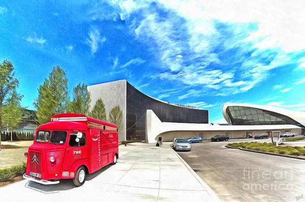 Wall Art - Photograph - Red Truck Twa Hotel Jfk by Nishanth Gopinathan