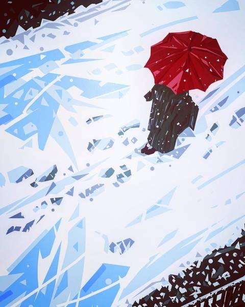Wall Art - Digital Art - Red Umbrella by Shuai Xu