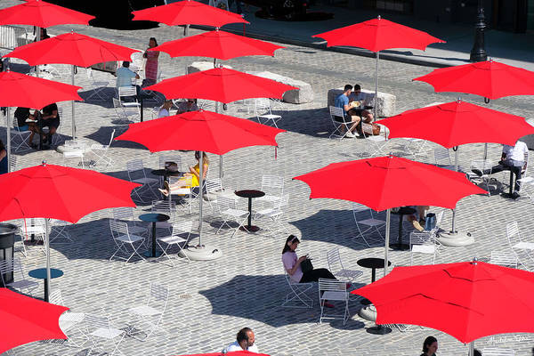 Wall Art - Photograph - Red Umbrellas 1 by Madeline Ellis