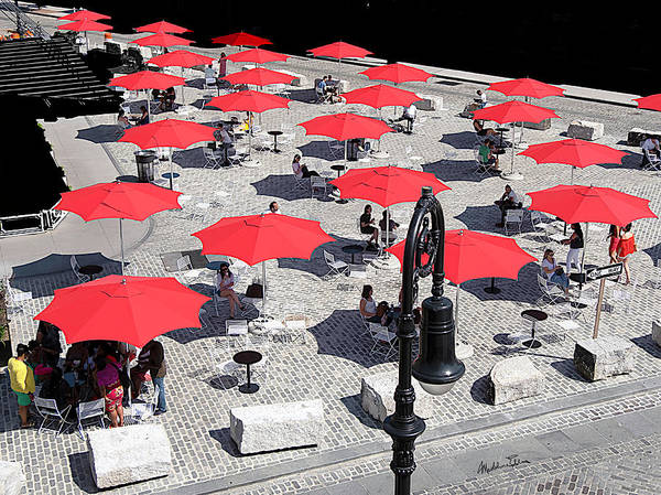 Wall Art - Photograph - Red Umbrellas 2 by Madeline Ellis