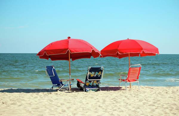 Photograph - Red Umbrellas  by Cynthia Guinn
