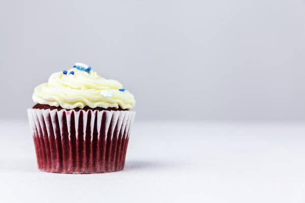 Photograph - Red Velvet Cupcake by Jeanette Fellows