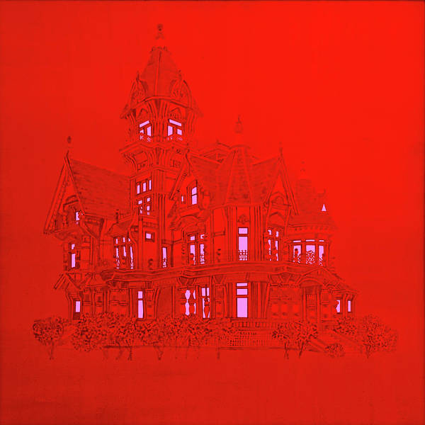 Painting - Red Victorian Mansion  by David Arrigoni