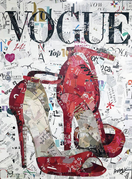 Vogue Mixed Media - Red Vogue Shoes by James Hudek