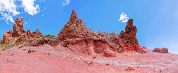 Photograph - Red Volcanic Cliffs In The Teide National Park by Sun Travels
