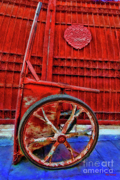 Photograph - Red Wagon Red Wall  by Blake Richards