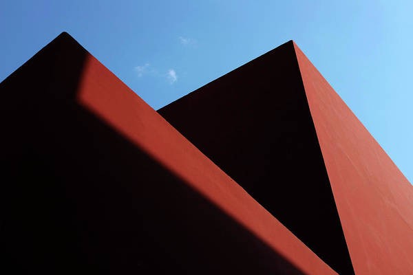Photograph - Red Wall Shadows by Prakash Ghai